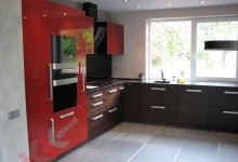 Кухня угловая из пластика №235