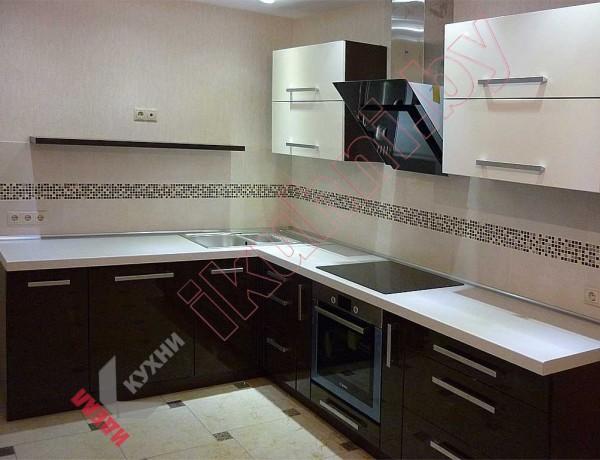 Кухня из МДФ крашенного №01