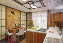Кухня в японском стиле №19