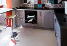 Кухня с барной стойкой №03