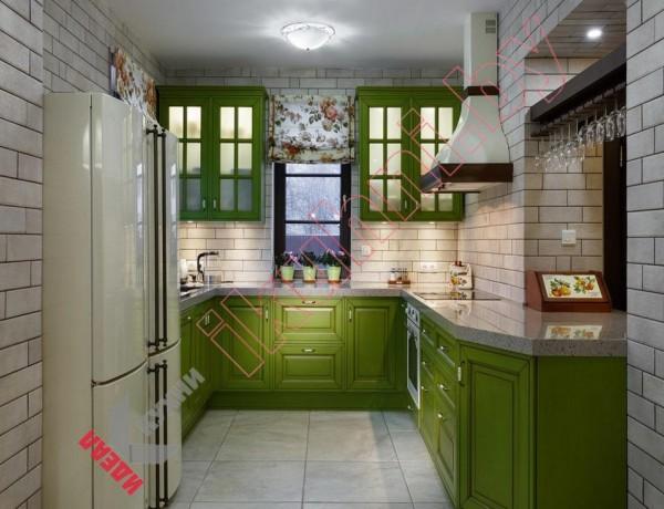 Кухня с каменной столешницей №06