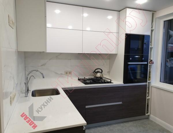 Кухня от 8 до 9 м.кв. серия домов 3А-ОПБ с круглыми углами №03