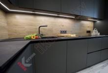 Кухня из пластика FENIX NTM №06