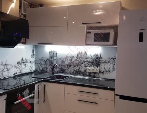 Кухня в стиле минимализм серия домов ЗА-ОПБ с круглыми углами №04