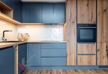 Кухня в дом с фасадами FENIX №10