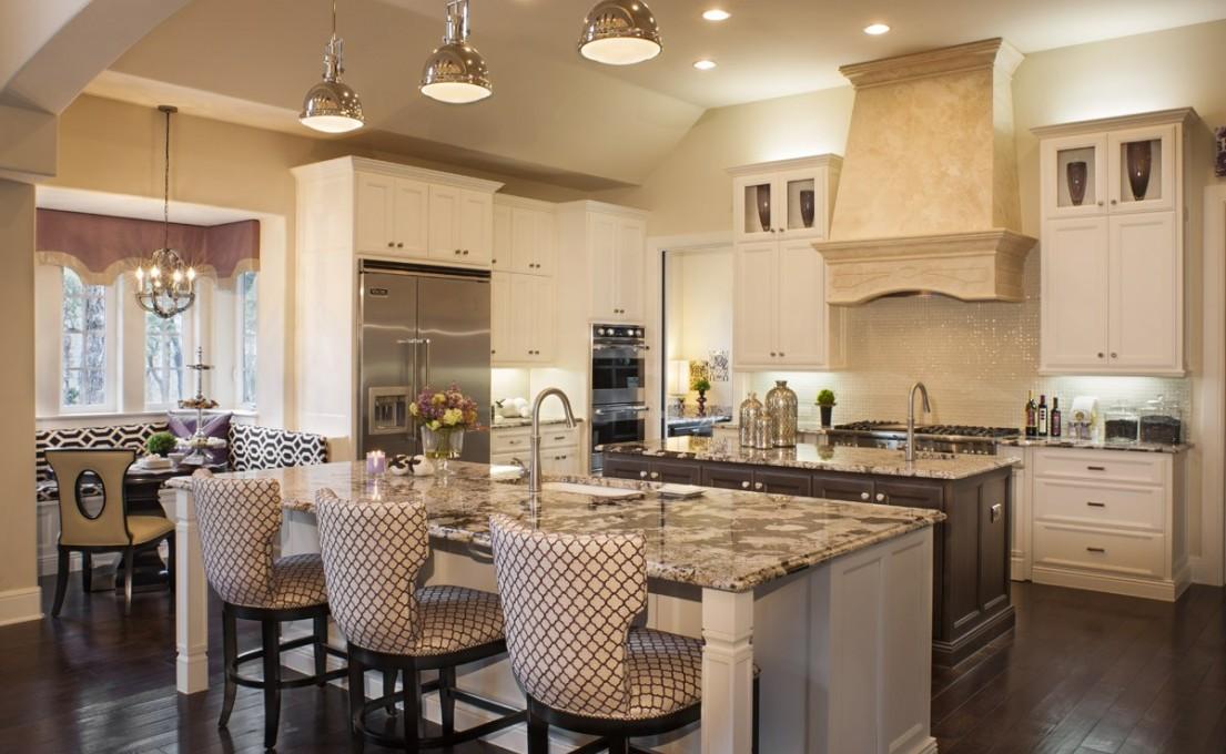 Кухня больших размеров и ее планировка