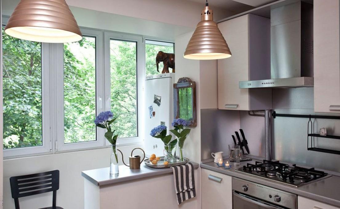 Как совместить кухню с балконом