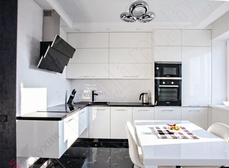 Кухня из крашеного МДФ №260