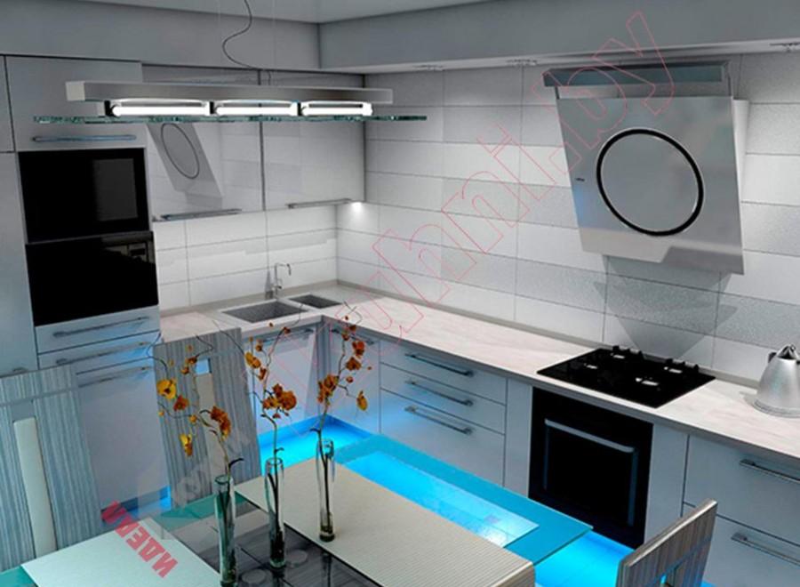 Кухня хай-тек №002
