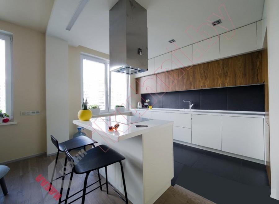Кухня с каменной столешницей №05