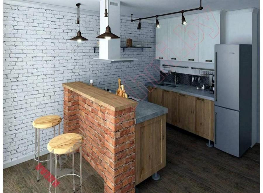 Кухня в стиле лофт №02